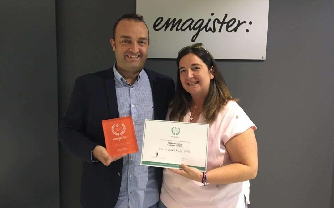 Formainfancia, galardonada con su tercer Cum Laude 2018 de Emagister